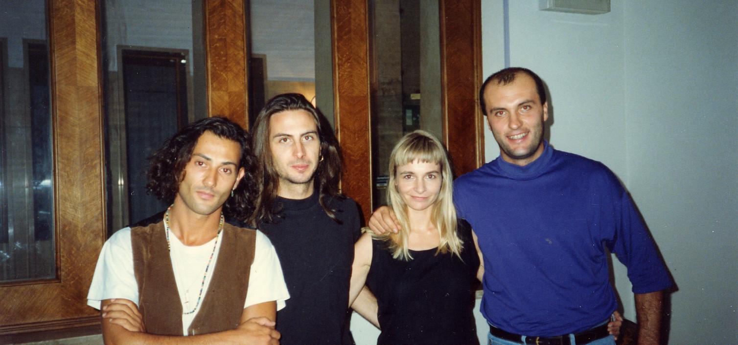 Foto con i Bliss a Pisa nel 1991