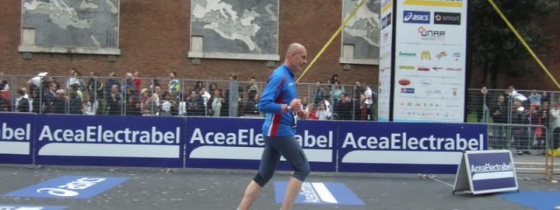 Foto al traguardo della Maratona di Roma 2010