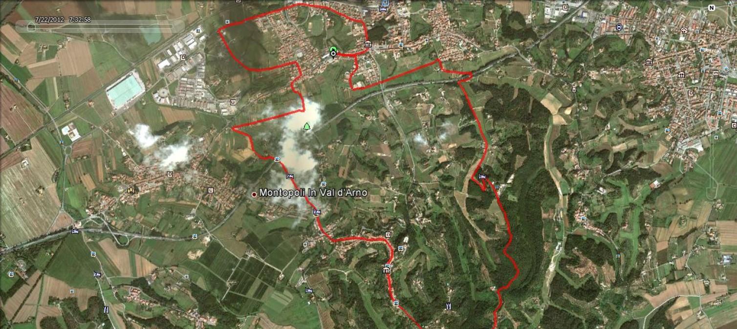 Percorso Trofeo Auser – San Romano (Pi)